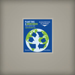 These Grow Green Earth Day Seed Paper Giveaway are easy eco-friendly promotions.