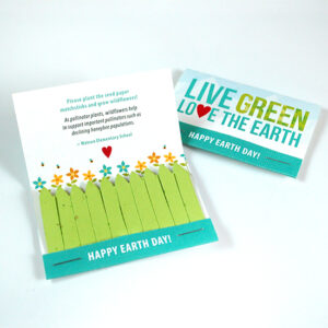 Love The Earth Seed Paper Matchbooks can be planted in soil to grow colorful flowers that will benefit important species such as honeybees.