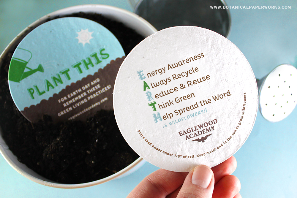 Earth Day Seed Paper Promotional Product