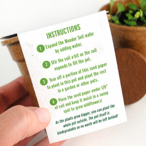 These Earth Day Seed Paper Sprouter Kits will help you demonstrate your sustainability commitment this Earth Day.