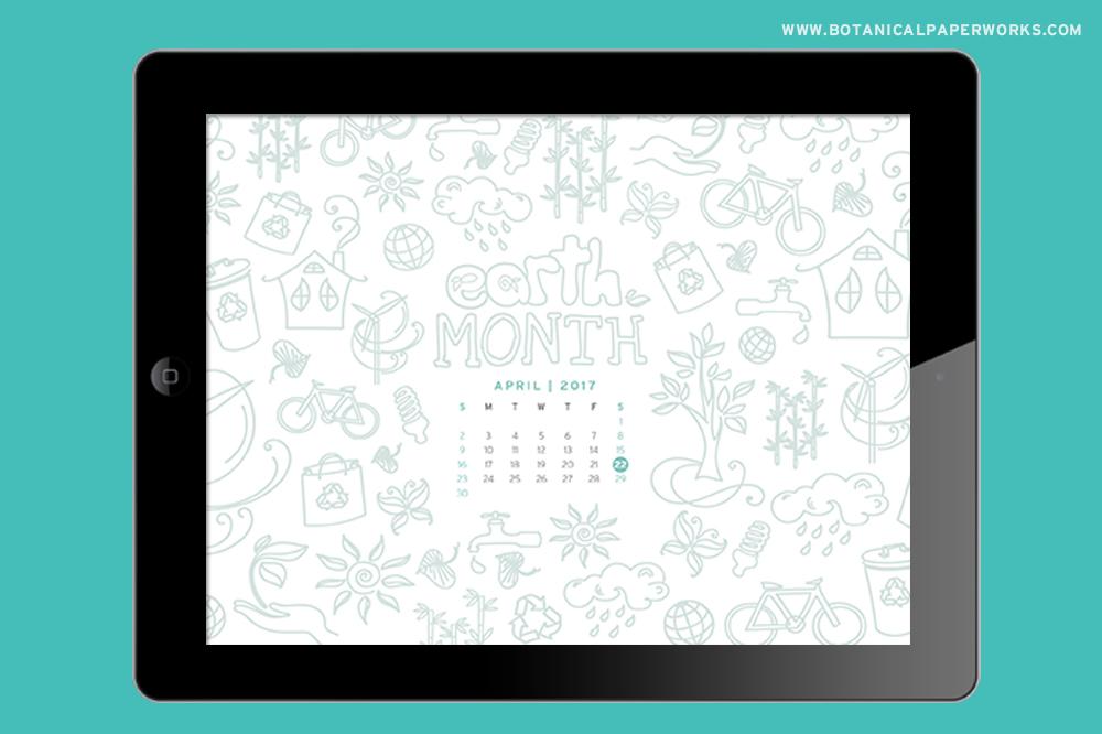 Earth Month Free Desktop Wallpaper