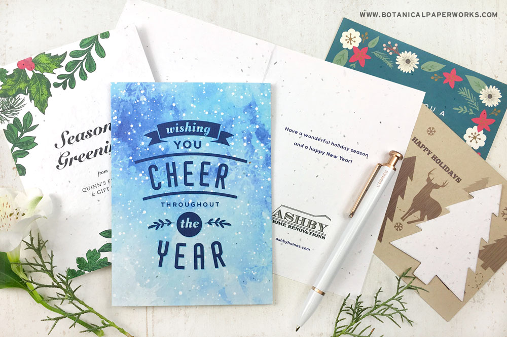 seed paper business holiday cards