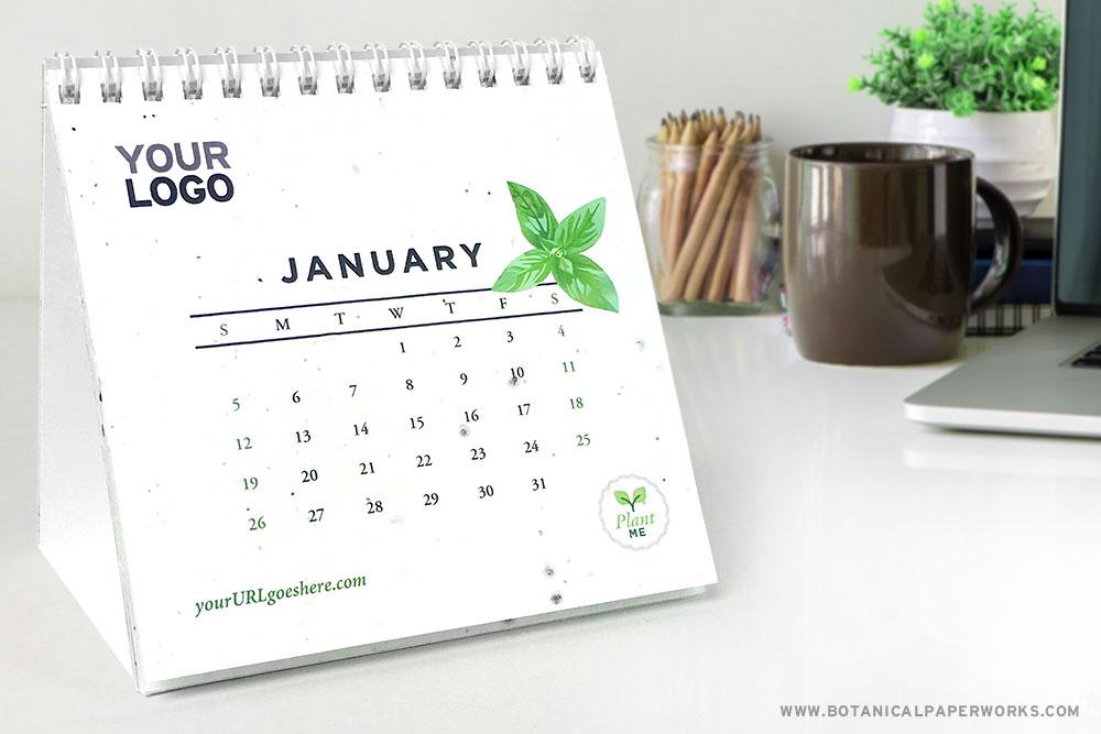 Plantable Seed Paper Herb Garden Eco Calendar