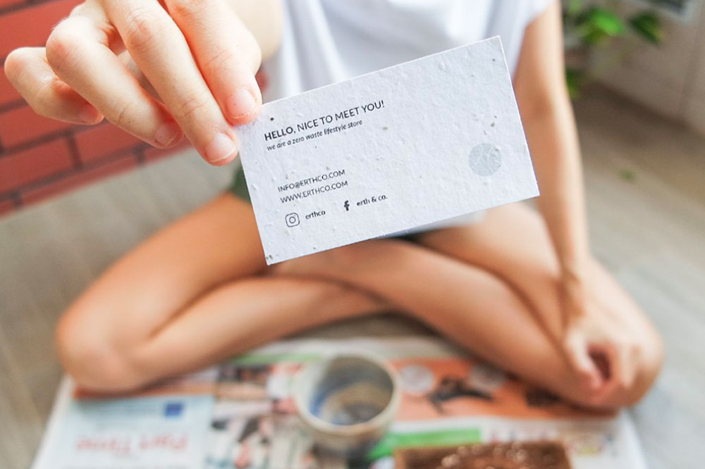 eco-friendly seed paper business cards