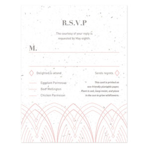 These beautiful Elegant Lines Seed Paper Reply Cards are both glamorous and green!