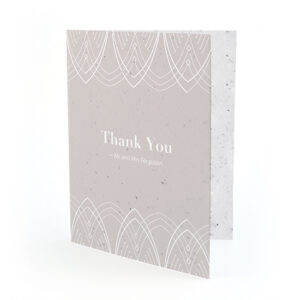With art deco inspired touches, these beautiful Elegant Lines Seed Paper Thank You Cards are personalized and plantable!