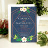 On-trend and eco-friendly, these gorgeous Embellished Geometric Plantable Wedding Invitations are perfect for lavish modern weddings with stylish details.