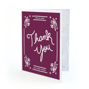 Plant these Fancy Vintage Seed Paper Thank You Cards to grow a garden of fresh wildflowers.