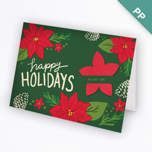 These Festive Flower Business Holiday Cards share your holiday greetings in a way that is memorable and unique.