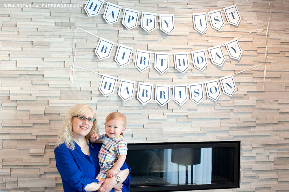 first birthday Plantable and Eco-friendly Party Banners