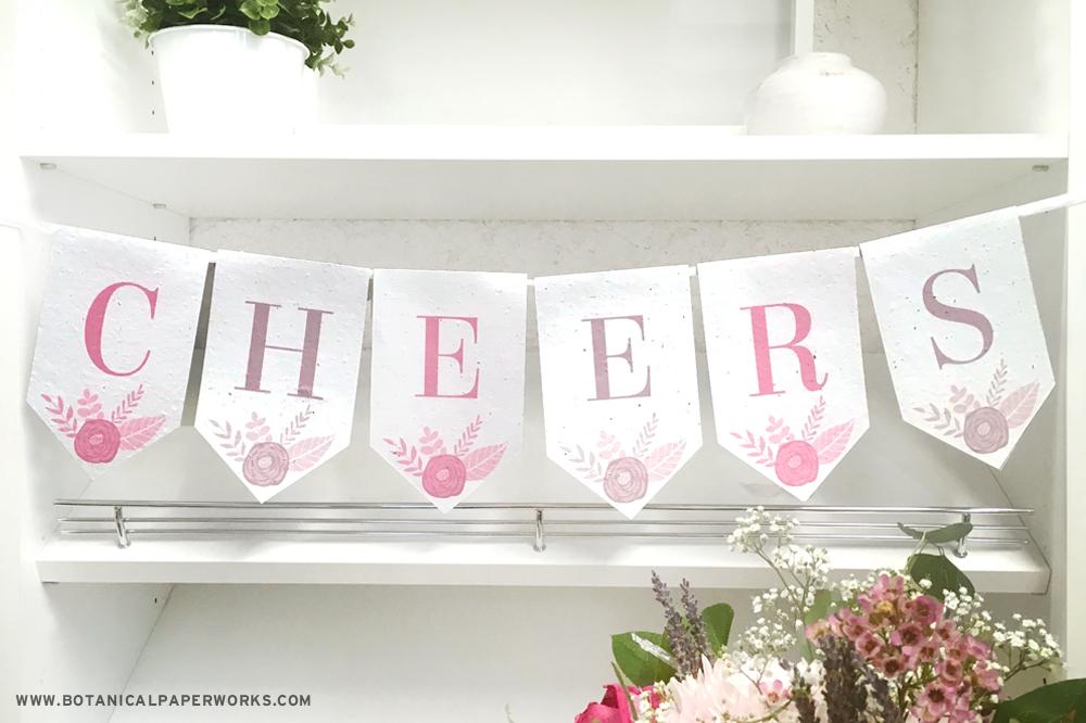 free printable floral banner