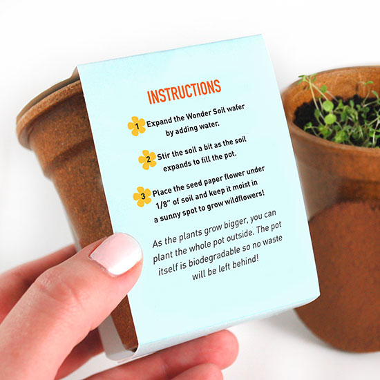 These Flower Power Seed Paper Sprouter Kits are eco-friendly corporate gifts that symbolize growth and prosperity, making them perfect for clients, colleagues & customers.