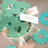 These Bucket of Love Flower Seed Wedding Favors will grow wildflowers when you plant the seeded shape.