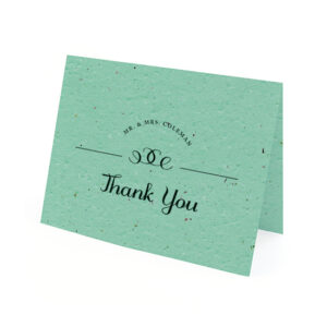 Your guests can plant these Formal Text Plantable Thank You Cards to grow wildflowers!