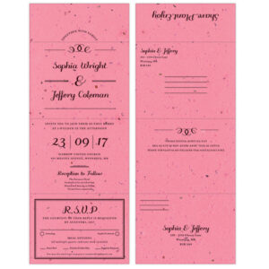 These eco-friendly Formal Text Seal and Send Invitations are perfect for couples who see beauty in simplicity.