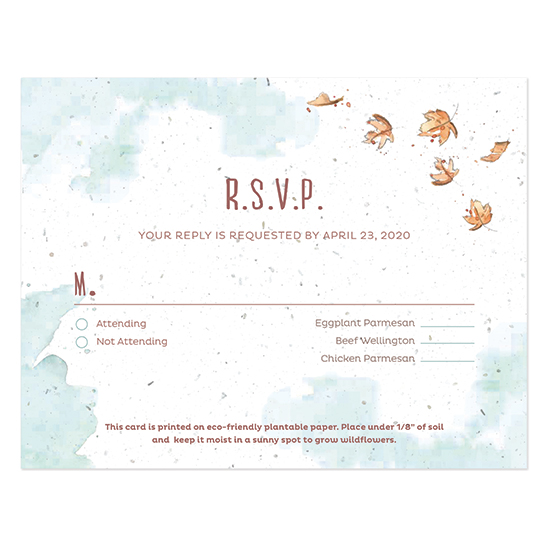 These unique Watercolor Foxes Seed Paper Reply Cards will gather your replies and grow a garden of colorful wildflowers!