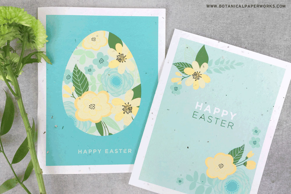 plantable seed paper Easter cards