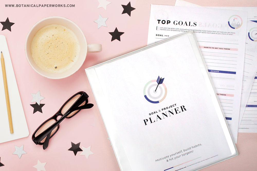 free printable goal planner pages