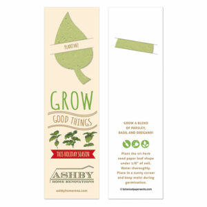 If you want to share something new this year in place of traditional holiday cards, try these fun Grow Good Things Holiday Bookmarks with Slot that give and grow good things!