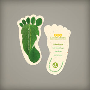 Take a step towards sustainability with these symbolic Sustainability Footprint Seed Paper Business Cards that are unique and eye-catching.