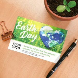 Plantable Heart Globe Medium Eco Panel Card