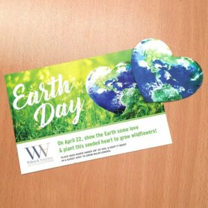 Plantable Heart Globe Medium Eco Panel Card