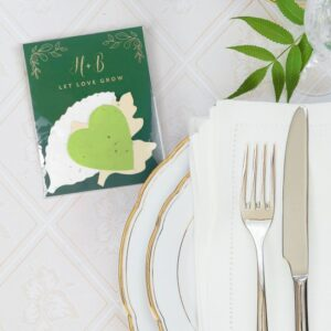 Share these stylish, yet eco-friendly wedding favors that grow a herb garden to say thank you.