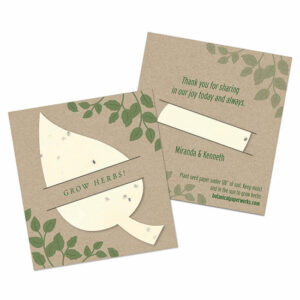 Plantable wedding favors that give the gift of herbs!