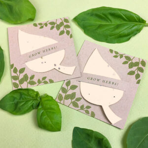 Give your party guests the chance to plant and grow their own herbs with these Plantable Herb Leaf Mini Slot Card Party Favors.