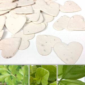 Celebrate with biodegradable confetti that will grow into herbs rather than leaving waste behind!