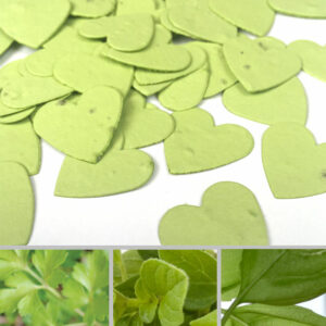 Plant love with this seed confetti and grow a variety of herbs to cook with.