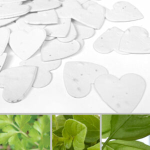 This seed packed biodegradable confetti gives guests a garden of herbs to plant and enjoy.