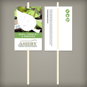 These fun Pre-Designed Herb Seed Paper Planting Sticks give a plantable herb leaf gift as well as a planting stick to mark the spot!