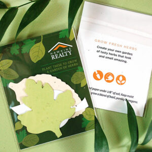 These Herb Seed Paper Shape Packs are perfect for summer and gives the gift of fresh herbs to grow!