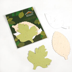 These Single-Sided Herb Seed Paper Shape Packs are perfect for summer and give the gift of a garden of herbs to grow!