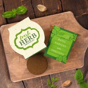 These Herb Plantable Paper Grow Kits are great for gardeners or anyone who loves to cook!