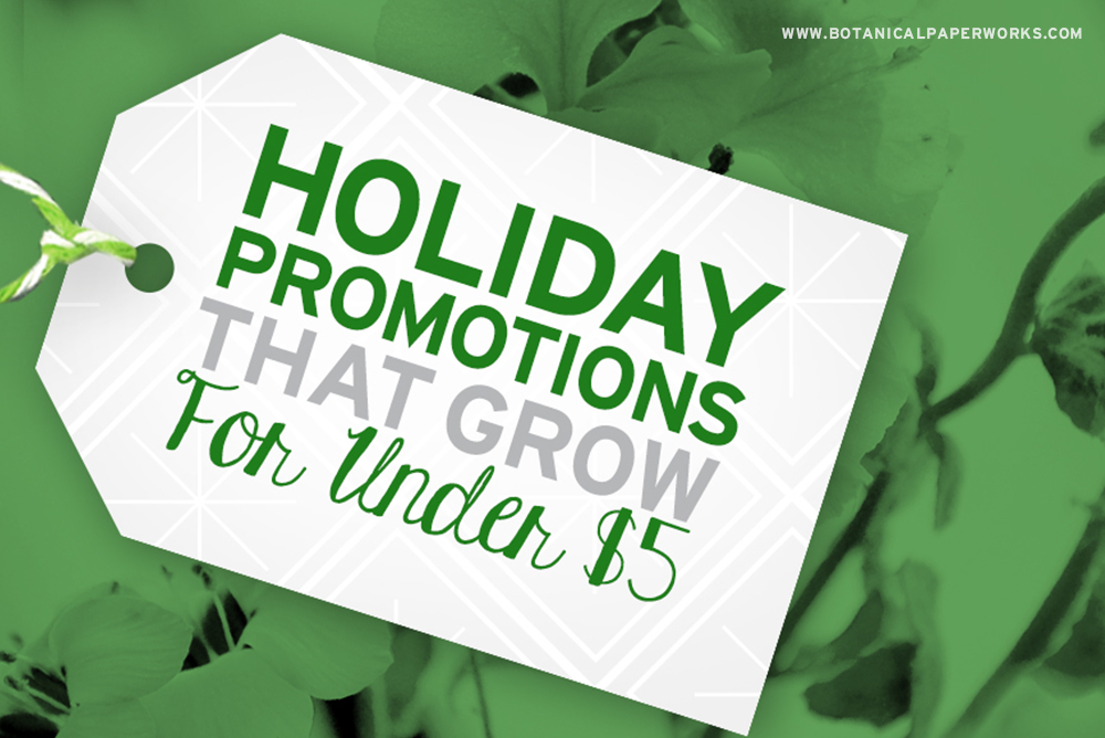 Holiday Promotional Products that Grow for Under $5 Each