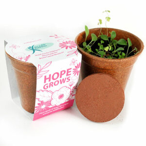 Stand up and show your support for the fight against breast cancer with these eco-friendly Hope Grows Seed Paper Sprouter Kits that share seeds of hope.