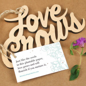 Love Grows Wood Ornament with Tag
