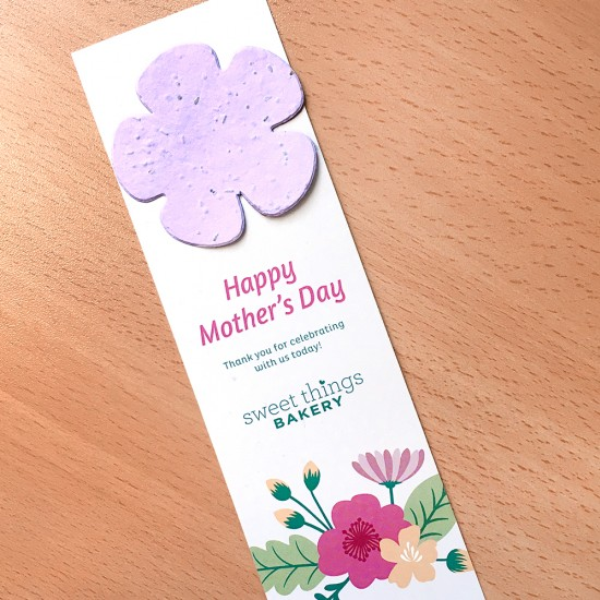 Mother's Day Flower Shape Large Eco Bookmark