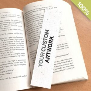 Plantable seed bookmark and green promotions