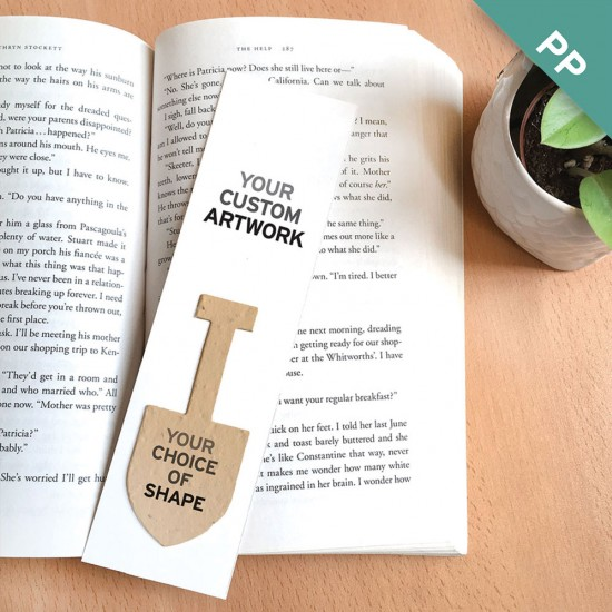 Large eco bookmarks with shape