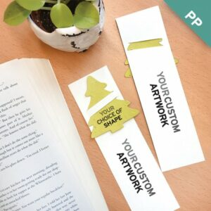 Double-Sided Large Eco Bookmarks with Slot