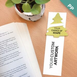 Single-Sided Large Eco Bookmarks with Slot