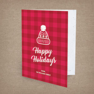Warm and festive personalized seed paper holiday cards