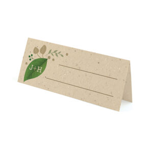 Perfect for nature inspired, eco-friendly weddings, these charming Lush Greenery Plantable Place Cards will help show guests to their seats and give them a wedding favor in one plantable piece.