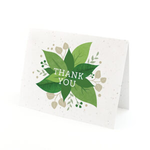 Say thank you with a burst of greenery by sharing these eco-friendly Lush Greenery Plantable Thank You Cards.