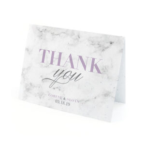 Thank your friends and family with these stylish and eco-friendly Marble Plantable Thank You Cards.