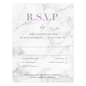 These lovely Marble Plantable Reply Cards are elegant and stylish as well as eco-friendly