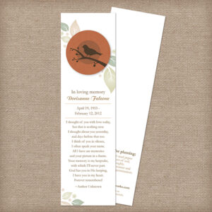 Birdwatcher Memorial Bookmarks